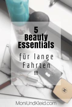 5 Beauty Essentials für lange Fahrten - Moni Und Kleid Beauty Essentials, Soap, Bottle, Blog, Flask, Blogging, Bar Soap, Soaps, Jars
