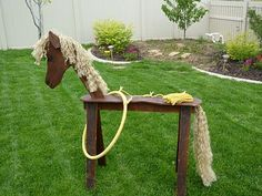 Cowboy Birthday Party Preparation { Part 3 - Sawhorse Horse}