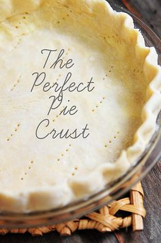 The Perfect Pie Crust Recipe ~ Says: It always provides a flaky crust with lots of flavor that is sturdy enough to hold even the heaviest of pies well... it's a keeper of a recipe!