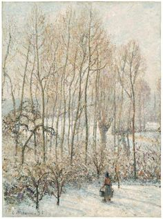 Camille Pissaro - Morning Sunlight on the Snow, Eragny-sur-Epte, 1895 ~~ This is my most favorite of his works. Saw it in Boston at the MFA. Visit it every time I go!