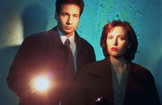 Mulder y Scully se besan en el set de filmación de The X-Files