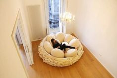 Forget a Normal Bed, This Human Sized Nest Is What You Need
