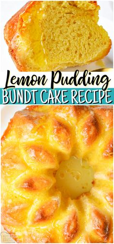 Lemon Pudding Bundt Cake ~ starts with a boxed cake mix & the final results are STUNNING! Delicious lemon bundt cake recipe that's simple to make & everyone enjoys! #lemon #cake #bundtcake #pudding #baking #dessert #easyrecipe from BUTTER WITH A SIDE OF BREAD Bundt Cake Recipe Using Cake Mix, Recipes Using Cake Mix, Box Cake Mix, Boxed Cake Recipes, Cake Mix Desserts, Easy Desserts, Bread Recipes, Lemon Dessert Recipes, Lemon Recipes