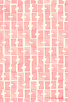 Pixtil studio® pattern sticks bridge red design textile creative coding fashion