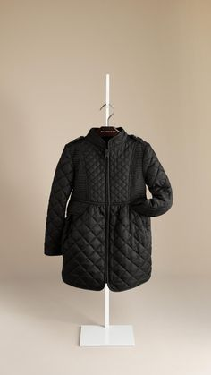 Multi-Stitch Quilted Jacket   Burberry for kids!