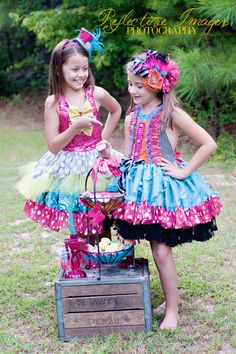 As seen in Babiekins Magazine, The Mad Hatter Dress, Marionette Inspired Costume, Birthday Dress, Party Dress, Circus Costume. $240.00, via Etsy.