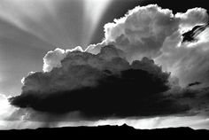 Black and white storm cloud photo