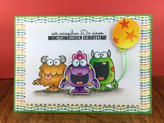 These little monsters from Your Next Stamp are really cute – just the right thing for a kids birthday card.