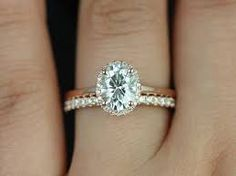 east west oval diamond solitaire - Google Search
