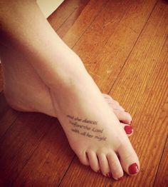 """My Tattoo : """"and she dances before the Lord with all her might"""""""