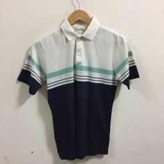 Vtg HANG TEN Rainbow Blue POLO Shirt Size S Surfer Rare Hawaii Soft | eBay