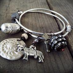 Boho silver bangles: sterling silver bangles boho by quisnam