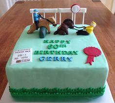 Horse Race theme birthday cake