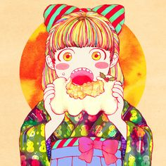 Baumkuchen girl on Behance