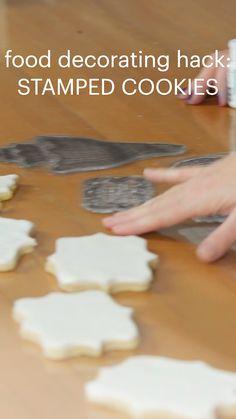 Sugar Cookie Recipe For Decorating, Cake Decorating Tips, Cookie Decorating, Cookie Recipes, Easy Sugar Cookies, Sugar Cookies Recipe, Yummy Cookies, Creative Desserts, Fancy Desserts