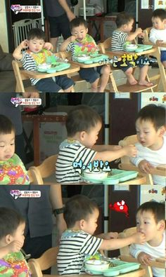 "Song Min Gook Melts Hearts by Feeding Lee Seo Eon on ""Superman Returns""  #Superman #Returns"