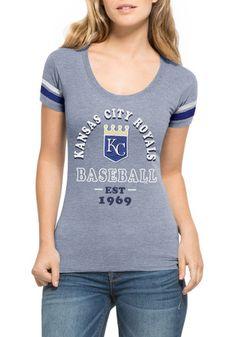 '47 KC Royals Womens Fantasy Blue Scoop T-Shirt
