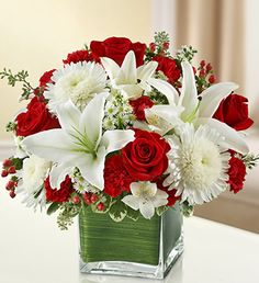 Healing Tears - Red and White Funeral Floral Arrangements, Christmas Flower Arrangements, Table Arrangements, Wedding Table Centerpieces, Flower Centerpieces, Red Rose Wedding, Wedding Flowers, Quince Decorations, Memorial Flowers