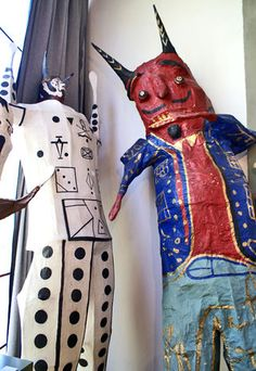 12 foot high Judas Figures in the studio of Diego Rivera and Frida Kahlo
