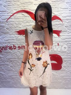 Fashion 2017 Spring Summer Women Embroidery Balloon Sequins Yellow Tulip Lace Dress Sleeveless Vest Dress Plus Size 5XL