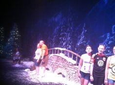 Frozen inside ice rink