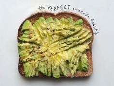 Toasts with the Most: The Perfect Avocado Toast | This avocado toast is perfect. The combo of fats and carbs comes together to hold you over to the next meal.