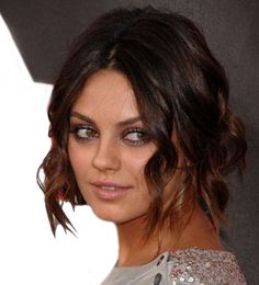 Mila Kunis - Curly updos for medium length hair