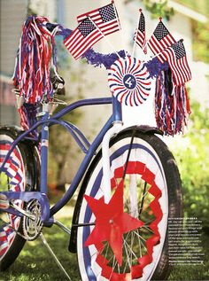 4th of July bike parade decorations