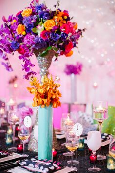 Colorful Kate Spade Inspired NYE Ideas - www.theperfectpalette.com - Caitlin Thomas Photography, {SHE} Shayla Hawkins Events