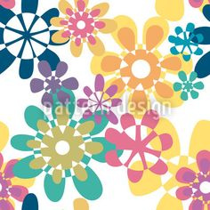 Glori Flori Color created by Christina Wasenegger offered as a vector file on patterndesigns.com