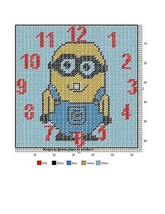 Minions, Minion Card, Embroidery Art, Cross Stitch Embroidery, Cross Stitch Patterns, Plastic Canvas Crafts, Plastic Canvas Patterns, Minion Pattern, 3d Perler Bead