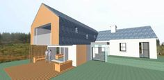 Work in progress on this cottage restoration/extension I did planning on a while back. This is an early concept visual