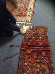 Cleaning Camel Saddle Bag at Art of Cleans Rug Cleaning Studio in Cambridge ~ Art of Clean - UK - 01223 863632