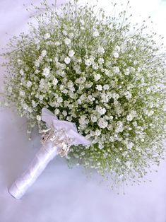 Baby's Breath Wedding Bouquet.