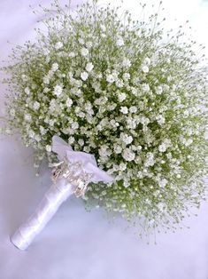 Baby's Breath Wedding Bouquet.