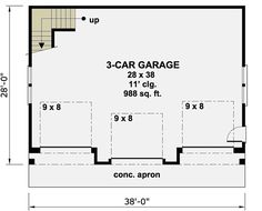 3 Car Garage Apartment with Class - 14631RK | 2nd Floor Master Suite, CAD Available, Carriage, PDF | Architectural Designs