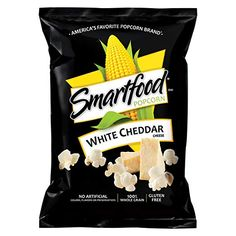 Snack Foods Sealed Smartfood Popcorn White Cheddar Flavored Whole Grain 8 Oz & Garden White Cheddar Popcorn, Cheese Popcorn, White Cheddar Cheese, Smartfood Popcorn, Popcorn Packaging, Cheese Cultures, Pop Corn, Flavored Popcorn, Sweets