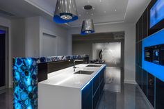Ultra modern black and blue kitchen - Discover home design ideas, furniture, browse photos and plan projects at HG Design Ideas - connecting homeowners with the latest trends in home design & remodeling