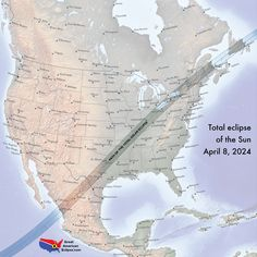 The 2nd Great American Eclipse. Coming April 8, 2024. More maps at…