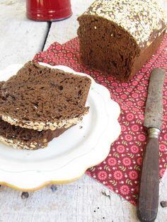 Pão de alfarroba e sementes