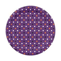 polka dots dotty halloween pattern paper plate - patterns pattern special unique design gift idea diy