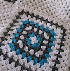 Holiday Sale Granny Square Afghan Nine Patch Blanket by MaybeLemon