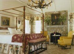 Amelia Handegan mountain retreat bedroom with canopy
