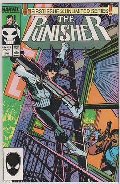Punisher V2 1. NM. Jul 1987. Marvel Comics by RubbersuitStudios #punisher #comicbooks