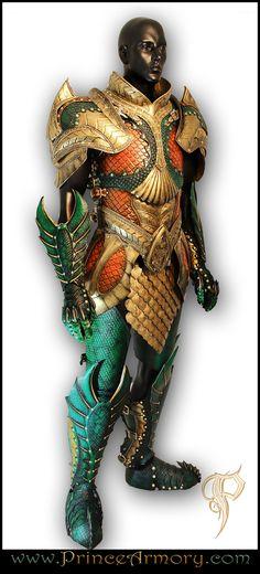 Leather Medieval Aquaman Armor Full View by Azmal.deviantart.com on @deviantART