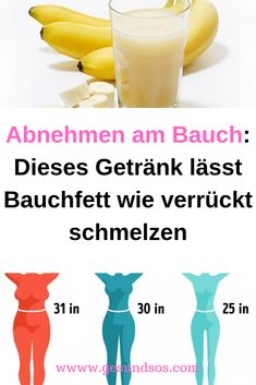 Losing weight on the belly: This drink leaves belly fat like crazy Abnehmen am Bauch: Dieses Getränk lässt Bauchfett wie verrückt schmelzen Losing weight on the belly: This drink melts belly fat like crazy Healthy Diet Tips, Healthy Smoothies, How To Stay Healthy, Healthy Food, Fat Burning Smoothies, Fat Burning Detox Drinks, Melt Belly Fat, Lose Belly Fat, Workout To Lose Weight Fast