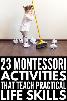 Helping Kids Grow: 23 Montessori Practical Life Activities W.-Helping Kids Grow: 23 Montessori Practical Life Activities We Love - Life Skills Activities, Activities For 2 Year Olds, Toddler Learning Activities, Montessori Toddler, Montessori Activities, Infant Activities, Teaching Kids, Kids Learning, Montessori Materials