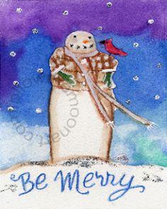 Be merry snowman pattern