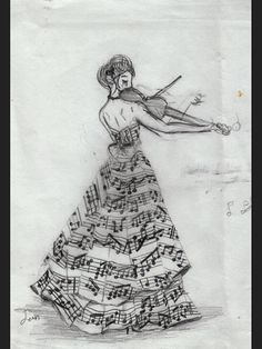 love photography beauty art girl quote Black and White life dress music notes musical desenho Notas violin sheet music treble clef vestido music art violino Pictures Of Music Notes, Art Plastique, Cool Drawings, Music Drawings, Pretty Drawings, Amazing Art, Awesome, Amazing Music, The Selection