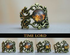 Time Lord Inspired Antique Bronze Ring by moonlightmine on Etsy